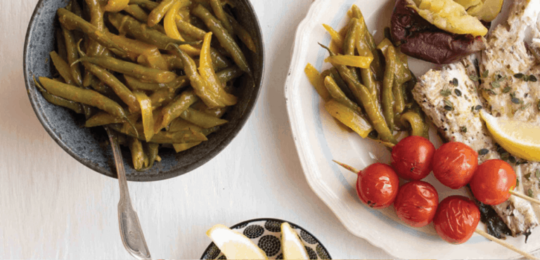 curried green beans onions