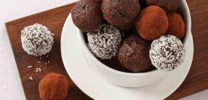 dates and chocolate balls